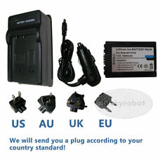 Decoded NP-FV70 battery+Charger For Sony HDR-CX105E HDR-CX115E Handycam