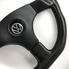 Genuine Raid 340mm flat bottom PU steering wheel. VW Golf Polo Corrado 16v GTi