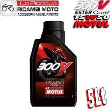 5 LITRI OLIO MOTORE MOTUL 300V 300 V 15W50 15 W 50 100% SINTETICO FACTORY LINE