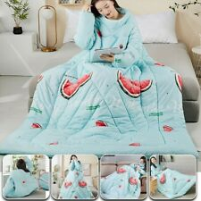 Winter Lazy Quilt With Sleeves Warm Soft Thick Washable Bedding Quilts Blanket
