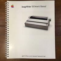 Vintage Apple ImageWriter II Owners Manual 1985 Macintosh Mac 030-2002-D