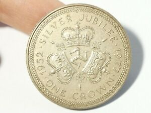 1977 Matt Proof Isle of Man Elizabeth II Silver Jubilee Crown Coin Boxed #MP