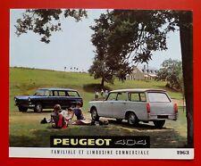 PEUGEOT 404 1963 break Brochure Prospekt Catalogue Dépliant
