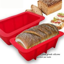 Bread Mold 100%Food Silicone Rectangle Loaf Pan Cake Nonstick Home Made Baking