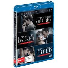 BRAND NEW Fifty Shades of Grey / Darker / Freed (Blu-Ray, 3-Disc Set) *PREORDER