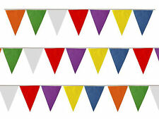 Multicolour Bunting 25 Triangle Flags 7M 23ft PVC Party Rainbow 7 colours M1003