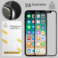 iPhone XS Black Gorilla Tech Brand Screen Protector Tempered Glass 5D Full Cover
