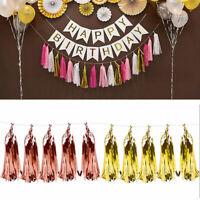 Tissue Tassels Paper Garland Bunting Wedding Birthday Party Baby Shower New