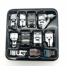 11Pc Sewing Machine Foot Feet Presser Snap Set Kit For Singer Brother Janome