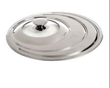 """Curtis Stone Stainless Steel 8""""/10""""/12"""" Frypan Universal Lid 2DAY DELIVERY"""