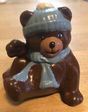 """Vintage Hand Painted Bear - Japan KSK - 2 1/2"""" Tall - oe"""