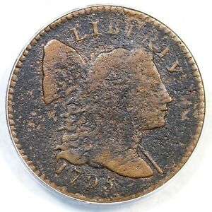 1795 S-73 R-5- ANACS F 15 Details Liberty Cap Large Cent Coin 1c
