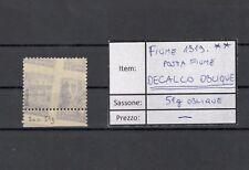 FIUME Posta Fiume 1919 Sassone 51 oblique decalco- MNH ** signed SUPERB quality