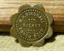 "ca 1900s RICHEY MONTANA MT (tiny scarce town DAWSON CO) ""WH BIRDSALL"" SCAL TOKEN"