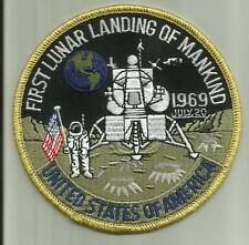FIRST LUNAR LANDING OF MANKIND PATCH 1969 NASA USA MOON ASTRONAUT SPACE SHIP FLY