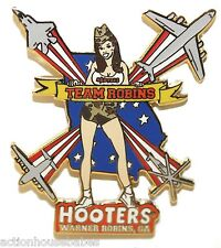HOOTERS GIRL WARNER ROBINS GA TEAM ROBINS AIR FORCE JETS, PLANES, HELICOPTER PIN