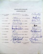 HAMPSHIRE 1983 COUNTY CHAMPIONSHIP – CRICKET OFFICIAL AUTOGRAPH TEAM SHEET