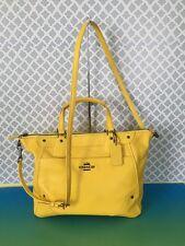 New COACH 34040 Satchel Leather Tote Crossbody Bag Purse Handbag Yellow