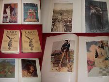 L'ART & LES ARTISTES / ÉPREUVES de Barbier Rivière Méheut Rackham Steinlen Dinet