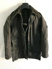 Mens Barbour Beaufort wax jacket Blue coat 34in size Small / Extra Small S/XS #2