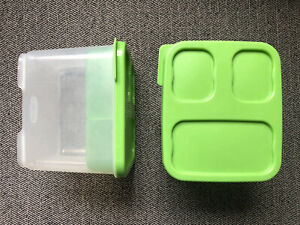 Rubbermaid Lunch Blox Salad Kit Modular Storage Used AS IS Set Of 2