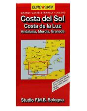 COSTA DEL SOL, ANDALUSIA, MURCIA CARTINA STRADALE 1:300 000 [CARTA/MAPPA]