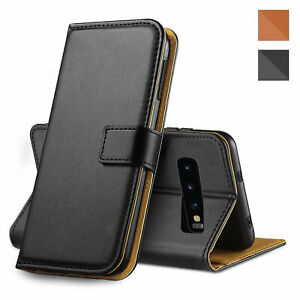 For Samsung Galaxy S9+ Plus Leather Flip Wallet Black Case Magnetic Phone Cover