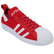 Baskets superstar rouge adidas pour homme