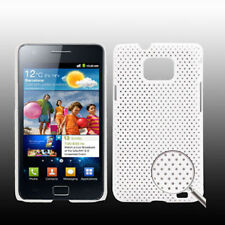 5X COVER HARD CASE RIGIDA PER SAMSUNG GALAXY S2 GT i9100 CUSTODIA BIANCO MESH