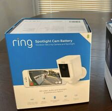 Ring Spotlight Cam Battery-Powered Security Camera- ( WHITE )