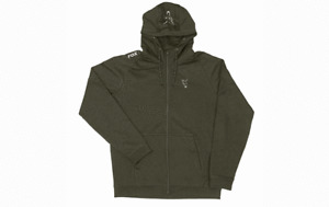 FOX NEW Collection Green & Silver Lightweight Carp Hoodie / Hoody - All Sizes