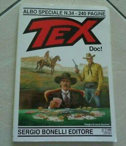 """TEX """" DOC ! """" ALBO SPECIALE N° 34 DISEGNI DI LAURA ZUCCHERI SERGIO BONELLI 2019"""