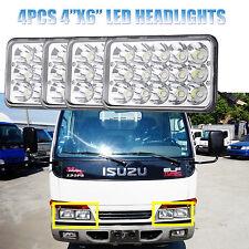 4PC 4x6'' LED Headlight Bulbs For GMC W3500 W4500 W5500 Forward Isuzu NPR-HD NQR