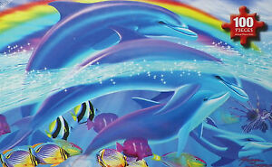 .PUZZLE...JIGSAW....SEARLE...Dolphin Rainbows...100pc....Sealed.