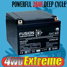 CBC12V26AH 12 VOLT 26AH DEEP CYCLE AGM BATTERY SCOOTER GOLF BUGGY WHEELCHAIR 12V