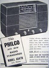 1949 'PHILCO' Model A547B 5-Valve Radio Print ADVERT - Small Original Ad