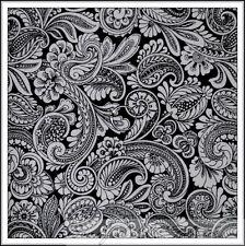BonEful Fabric FQ Cotton Quilt B&W Black White Flower Scroll Leaf Swirl Toile NR