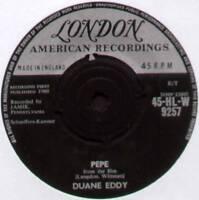 """DUANE EDDY ~ PEPE  / LOST FRIEND ~ 1960 UK 7"""" SINGLE ~ LONDON HLW 9257"""