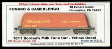 LMH Funaro F&C 1011  BORDEN'S BUTTERDISH MILK TANK CAR  Yellow w/ EXPRESS TRUCKS
