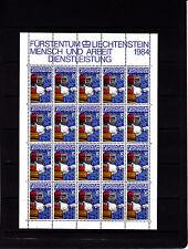 Liechtenstein Series courantes l'homme et le travail 50 r feuille 20 TP n° 795