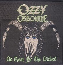 OZZY OSBOURNE No Rest For The Wicked Vintage 80`s Woven Sew On Patch