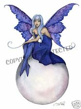 Amy Brown Print Bubble Rider X 10 Fairy Blue Purple Fae