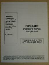 Manco Fun-Kart Go Kart Assembly Operation Manual Cart