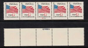 """USA PNC5 SC# 2891 RED """"G"""" - OLD GLORY (32c) WATER ACTIVATED MNH PL# S1111 # ON #"""