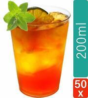 50 Trinkbecher Kunststoff Becher 0,2l Harte Plastik Mehrweg Saft Gläser Party