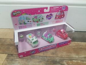 SHOPKINS CUTIE CARS CANDY COMBO COLLECTION 3 PACK  - BRAND NEW