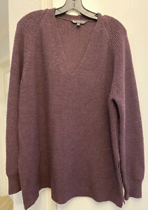 ATHLETA Tunic Style V Neck Merino Sweater-M