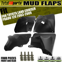 4x Splash Guard Mud Flaps for Toyota Land Cruiser Prado 120 Front&Rear 2003-2009