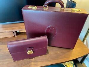 RARE Authentic Louis Cartier Leather Bag Attache Hard Briefcase RRP  £3500