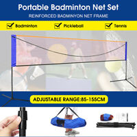 Portable 20FT Pickleball Tennis Net W/Stand & Net &Carry Bag Steel Poles Outdoor
